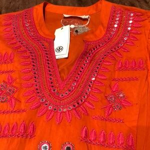 Tory Burch Claudia Embellished Tunic NWTS